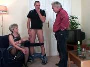 Two dicks for old naughty bitch