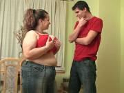 He loves a great BBW with big tits